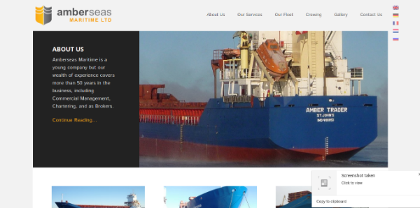 Amberseas Maritime - Be Devious Web Development
